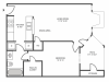 Mimosa Classic Floor Plan | 1 Bedroom with 1 Bath | 640 Square Feet | The Arbors of Las Colinas | Apartment Homes