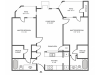 Maple Floor Plan | 2 Bedroom with 2 Bath | 930 Square Feet | The Arbors of Las Colinas | Apartment Homes