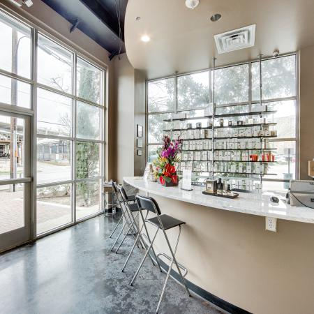 View of Pura Vida, Showing Onsite Hair Salon at McKinney Uptown Apartments