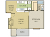 Birch Floor Plan | 1 Bedroom with 1 Bath | 672 Square Feet | Cottonwood | Apartment Homes