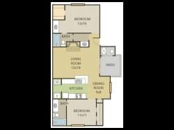 Maple Floor Plan   2 Bedroom with 2.5 Bath   964 Square Feet   Cottonwood   Apartment Homes
