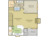 Monaco Floor Plan | 1 Bedroom with 1 Bath | 867 Square Feet | Stonebriar of Frisco | Apartment Homes