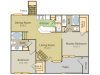 Matisse B Floor Plan | 2 Bedroom with 2 Bath | 1082 Square Feet | Stonebriar of Frisco | Apartment Homes