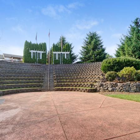 View of Amphitheater, Showing Landscaping  at Scott Mountain Apartments