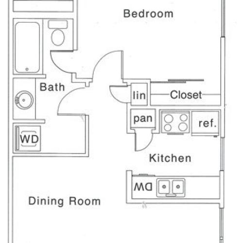 C Floor Plan | 1 Bedroom with 1 Bath | 700 Square Feet | The Regatta | Apartment Homes