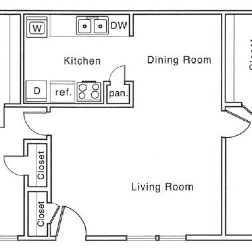 G Floor Plan | 2 Bedroom with 2 Bath | 1020 Square Feet | The Regatta | Apartment Homes