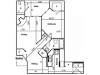 B Renovated Floor Plan | 1 Bedroom with 1 Bath | 880 Square Feet | Pavilions | Apartment Homes