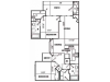 D2 Renovated Floor Plan | 2 Bedroom with 2 Bath | 1192 Square Feet | Pavilions | Apartment Homes