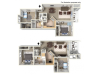 Scenic Floor Plan | 2 Bedroom with 1 Bath | 975 Square Feet | Clearview | Apartment Homes