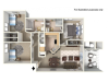 Horizon Floor Plan | 3 Bedroom with 2 Bath | 1200 Square Feet | Clearview | Apartment Homes