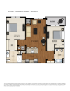BA1 Floor Plan | 2 Bedroom 2 Bath | 1055 Square Feet | Parc Westborough | Apartment Homes