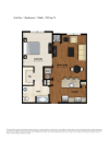 AA Floor Plan | 1 Bedroom 1 Bath | 790 Square Feet | Parc Westborough | Apartment Homes
