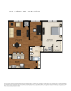 A2 Floor Plan | 1 Bedroom with 1 Bath | 935 Square Feet | Parc Westborough | Apartment Homes