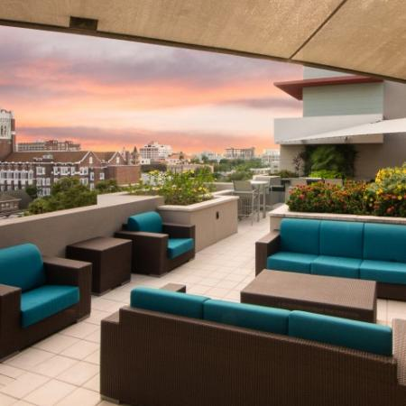 2 Rooftop Lounges with Skyline and Bay Views