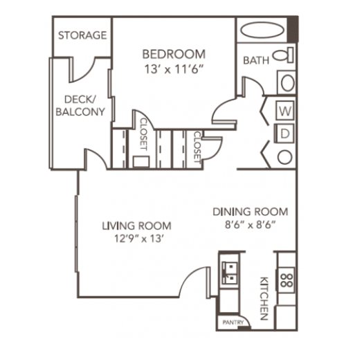 Birch Floorplan | 1070 Main