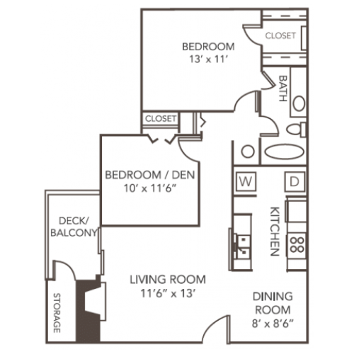 Cedar Floorplan | 1070 Main