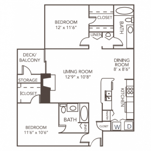 Dogwood Floorplan | 1070 Main