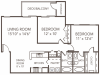 Cypress Floor Plan | 2 Bedroom with 2 Bath | 1096 Square Feet | 1070 Main | Apartment Homes