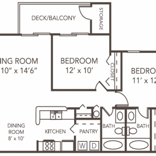 Cypress Floorplan | 1070 Main