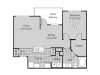 A2A Floor Plan | 1 Bedroom with 1 Bath | 846 Square Feet | Bluffs at Vista Ridge | Apartment Homes