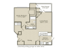 The Dogwood Floor Plan | 1 Bedroom with 1 Bath | 843 Square Feet | Retreat at River Park | Apartment Homes