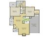 B3 Floor Plan   2 Bedroom with 2 Bath   1028 Square Feet   Spring Pointe   Apartment Homes