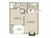 A1 Floor Plan   1 Bedroom with 1 Bath   600 Square Feet   The Oaks of North Dallas   Apartment Homes