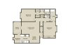 Magnolia Floor Plan | 2 Bedroom with 2 Bath | 1218 Square Feet | Plantations at Haywood | Apartment Homes
