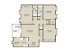 McLeod Floor Plan | 3 Bedroom with 2 Bath | 1482 Square Feet | Plantations at Haywood | Apartment Homes