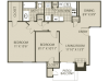 Upgraded B1 Floor Plan | 2 Bedroom with 1 Bath | 874 Square Feet | The Oaks of North Dallas | Apartment Homes