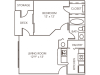 Renovated Ash Floor Plan | 1 Bedroom with 1 Bath | 603 Square Feet | 1070 Main | Apartment Homes