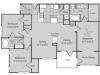 Renovated C1 Floor Plan   3 Bedroom with 2 Bath   1500 Square Feet   Bluffs at Vista Ridge   Apartment Homes