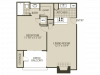 Renovated A1 Floor Plan | 1 Bedroom with 1 Bath | 600 Square Feet | The Oaks of North Dallas | Apartment Homes