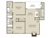 Renovated B2 Floor Plan | 2 Bedroom with 2 Bath | 1000 Square Feet | The Oaks of North Dallas | Apartment Homes