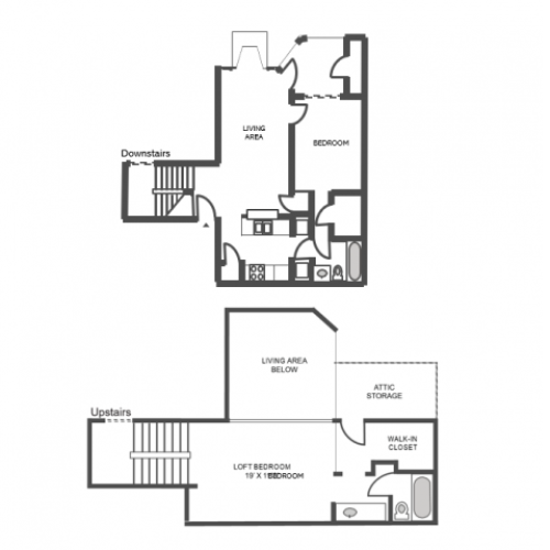 Willow Renovated Floor Plan | 2 Bedroom with 2 Bath | 1139 Square Feet | The Arbors of Las Colinas | Apartment Homes