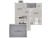 A1 Floor Plan | 1 Bedroom with 1 Bath | 821 Square Feet | Cottonwood Ridgeview | Apartment Homes