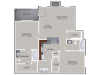 B1 Floor Plan | 2 Bedroom with 2 Bath | 1092 Square Feet | Cottonwood Ridgeview | Apartment Homes