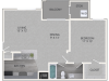 Renovated Ivy Floor Plan | 1 Bedroom with 1 Bath | 685 Square Feet | Waterford Creek | Apartment Homes