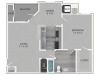 Willow Floor Plan | 1 Bedroom with 1 Bath | 787 Square Feet | Waterford Creek | Apartment Homes