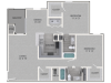 Bradford Floor Plan | 2 Bedroom with 2 Bath | 1137 Square Feet | Waterford Creek | Apartment Homes