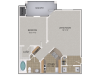 Sassafras Oak Floor Plan | 1 Bedroom with 1 Bath | 818 Square Feet | Cottonwood Reserve | Apartment Homes