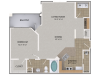 Persimmon Oak Floor Plan | 1 Bedroom with 1 Bath | 915 Square Feet | Cottonwood Reserve | Apartment Homes