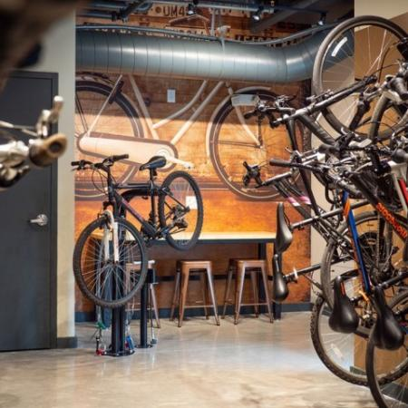 935M's bike storage & workshop