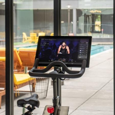 Peloton Spin Bike at 935M's fitness center