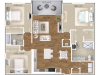 The Stella Floor Plan | 3 Bedroom 2 Bath | 1355 Square Feet | Cottonwood West Palm | Apartment Homes