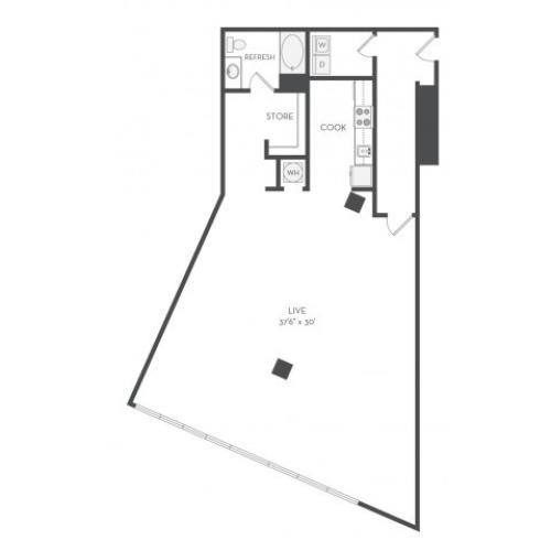 Live-work floorplan A72