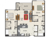 2A1 Floor Plan | 2 Bedroom with 2 Bath | 1118 Square Feet | Heights at Meridian | Apartment Homes