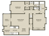 New Magnolia Floor Plan | 2 Bedroom with 2 Bath | 1218 Square Feet | Plantations at Haywood | Apartment Homes