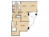 A8 Floor Plan | 1 Bedroom with 1 Bath | 901 Square Feet | McKinney Uptown | Apartment Homes