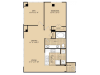 A13 Floor Plan | 1 Bedroom with 1 Bath | 979 Square Feet | McKinney Uptown | Apartment Homes